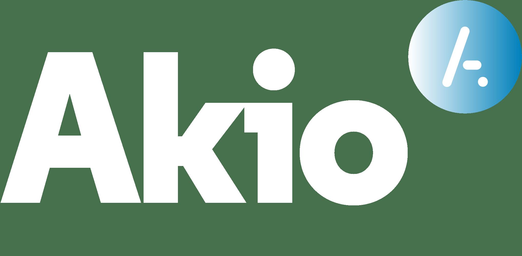 Logo Akio blanc sans baseline