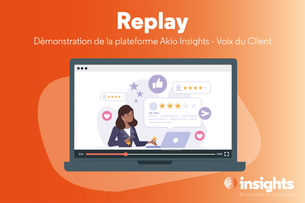 Read more about the article [Replay] Webinar démonstration Akio Insights Voix du Client